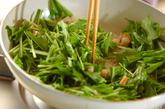 水菜とレンコンの和そばの作り方2