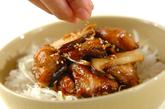 揚げサバの照り焼き丼の作り方3