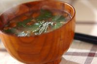 ミョウガとナメコのみそ汁