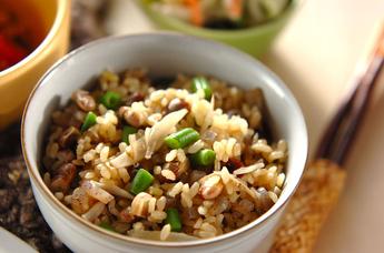炒り大豆炊き込みご飯