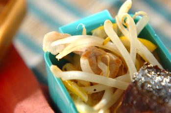 豚肉とモヤシのレモン炒め