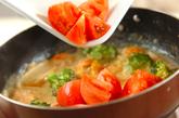 エビとトマトのクリーム煮の作り方2