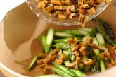 グリーンアスパラとアナゴの卵炒めの作り方2