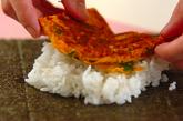 キムチとニラの卵焼きおにぎらずの作り方2