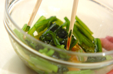小松菜とジャコのお浸しの作り方1