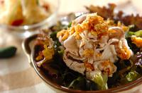 ゆで豚のネギソースサラダ
