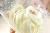 カレー風味のオニオンリングの下準備1