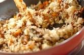 サンマの卵包みチャーハンの作り方2