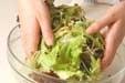 レタスと揚げのサラダの作り方2