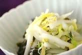 白菜のユズ酢