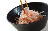 白髪ネギとハムの中華風サラダの作り方2