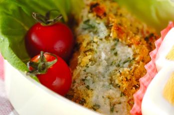 鮭のチーズパン粉焼き