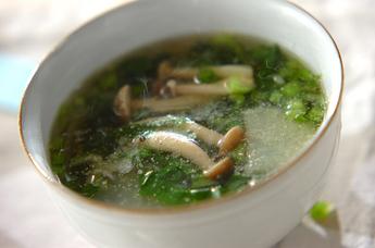 カブとシメジのスープ