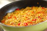 鶏と大豆のパエリアの作り方4