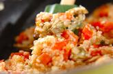 鶏と大豆のパエリアの作り方3