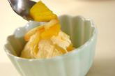 バニラアイス・パイナップルジャム添えの作り方2