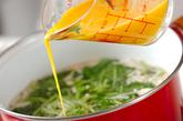 ミツバのかきたま汁の作り方2