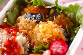 鮭の香草パン粉焼き