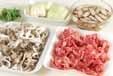 牛肉のサッと煮の下準備1