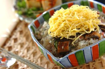 刻みウナギの混ぜ寿司