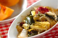 海藻と白菜のサラダ