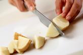 揚げジャガのツナ納豆の下準備1