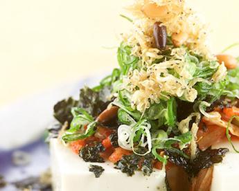 キムチ豆腐サラダ