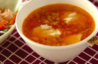 くずし豆腐のピリ辛スープ