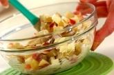 サツマイモとリンゴのマヨサラダの作り方1