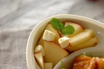リンゴのクリームチーズ和え