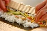 お手軽サラダ恵方巻きの作り方4