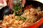 鶏ゴボウチャーハンの作り方2