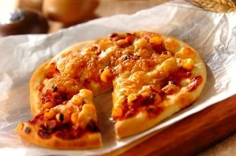発酵いらずの簡単ピザ
