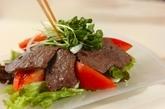 野菜たっぷり焼肉サラダの作り方2