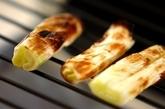白ネギのアンチョビバター風味の作り方1