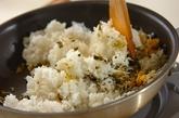 高菜とジャコのチャーハンの作り方1