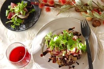 マグロと黒米のバルサミコサラダ