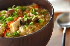 豆腐とキノコのトロミ汁