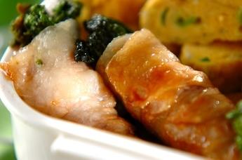 豚肉の菜の花巻き