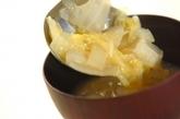 白菜と玉ネギのみそ汁の作り方2