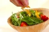 水菜のカリカリサラダの作り方2