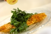 春菊とチーズのオムレツの作り方4