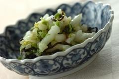 塩もみ白菜の塩昆布和え