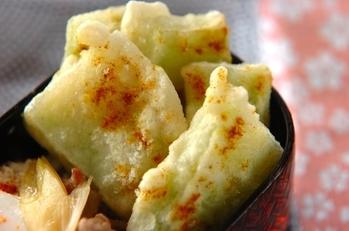 ブロッコリーの茎天ぷら