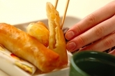 エノキとチーズの春巻きの作り方3
