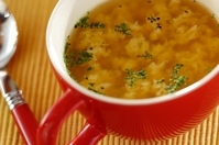 粉チーズと卵のスープ