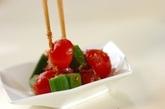 オクラとトマトのおかか和えの作り方2