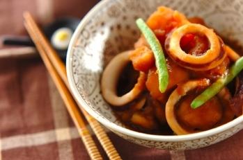 イカとジャガイモの煮物