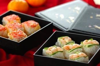 彩り押し寿司