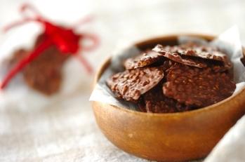 ゴマのチュイールチョコレート